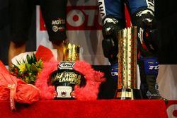 Podium: Tropy and Helmet of Lucas Mahias, GRT Yamaha Official WorldSSP Team