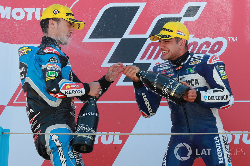 Podio: Aron Canet, Estrella Galicia 0,0, Jorge Martin, Del Conca Gresini Racing Moto3