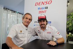 Fernando Alonso with Jacky Ickx