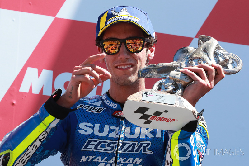 Podium: Alex Rins, Team Suzuki MotoGP