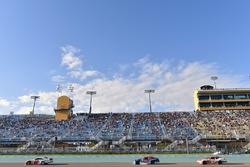 Sam Hornish Jr., Team Penske Ford, Ty Majeski, Roush Fenway Racing Ford and Daniel Hemric, Richard Childress Racing Chevrolet