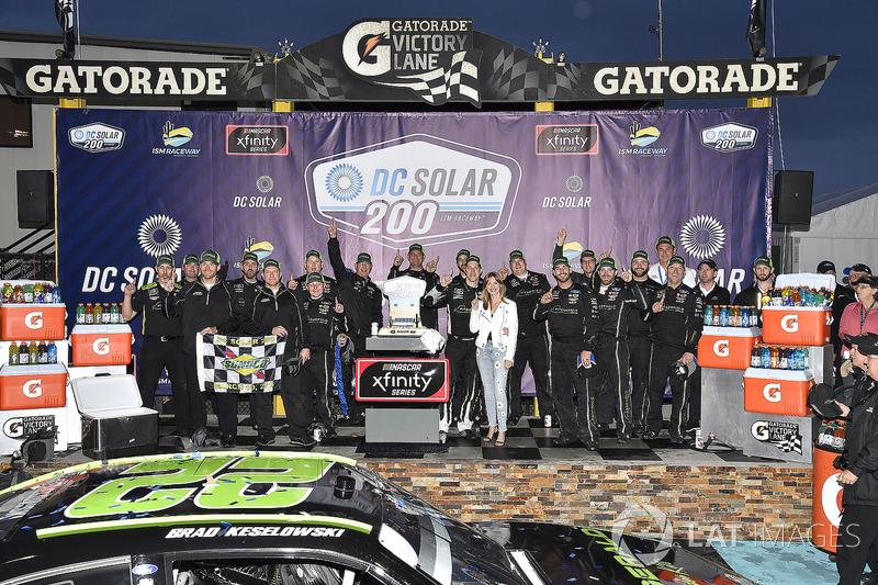 Brad Keselowski, Team Penske, Ford Mustang Fitzgerald Glider Kits celebra la victoria