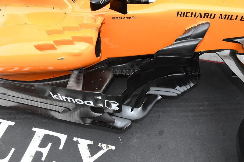 McLaren MCL33 detalle de la barcaza