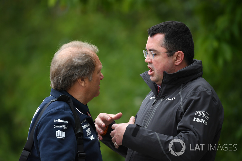 Robert Fernley y Eric Boullier, ex director de McLaren Racing
