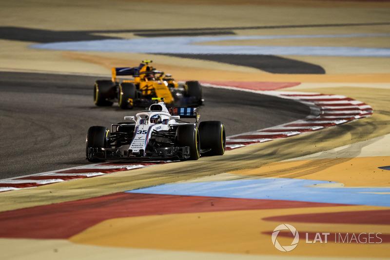 Sergey Sirotkin, Williams FW41 Mercedes, Stoffel Vandoorne, McLaren MCL33 Renault