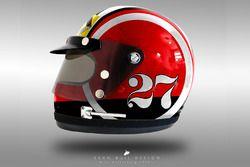 Nico Hulkenberg 1970's helmet concept