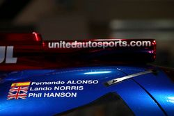 Door detail of the Fernando Alonso, land Norris, Phil Hanson sportscar