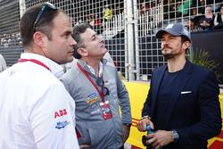 Alejandro Agag, Formula E CEO, with Actor Orlando Bloom on the grid