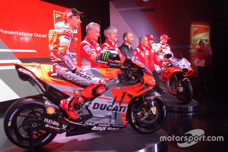 Jorge Lorenzo, Ducati Team, Michele Pirro, tester Ducati, Luigi dall'Igna y Andrea Dovizioso, Ducati Team