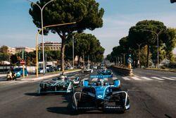 Sébastien Buemi, Renault e.Dams leads Nelson Piquet Jr., Jaguar Racing leads Luca Filippi, NIO Formu