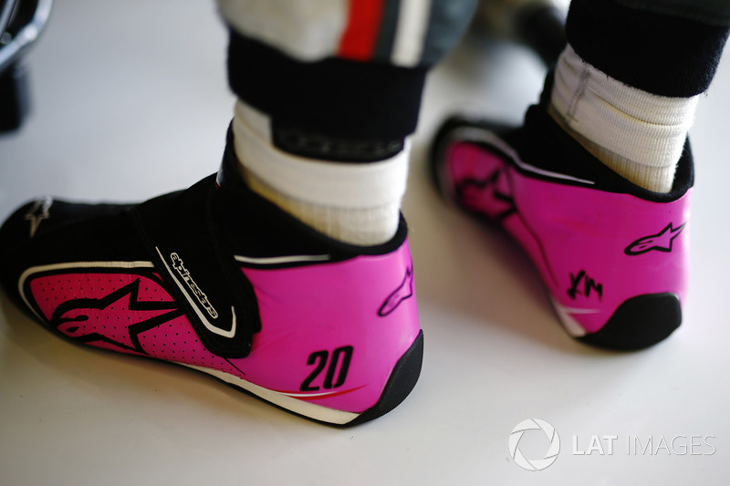 The boots of Kevin Magnussen, Haas F1 Team