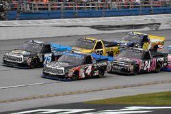 Christopher Bell, Kyle Busch Motorsports Toyota and Parker Kligerman, Henderson Motorsports Toyota
