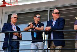 Вице-президент Ferrari Пьеро Ларди Феррари, Кейси Стоунер и князь Монако Альбер II