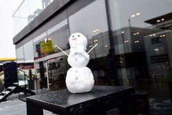Mercedes AMG F1 sneeuwpop