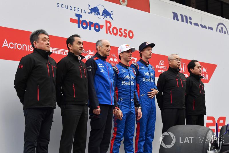 Franz Tost, Scuderia Toro Rosso Team Principal, Pierre Gasly, Scuderia Toro Rosso, Brendon Hartley,