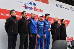 Franz Tost, teambaas Scuderia Toro Rosso, Pierre Gasly en Brendon Hartley, Scuderia Toro Rosso en personeel Honda