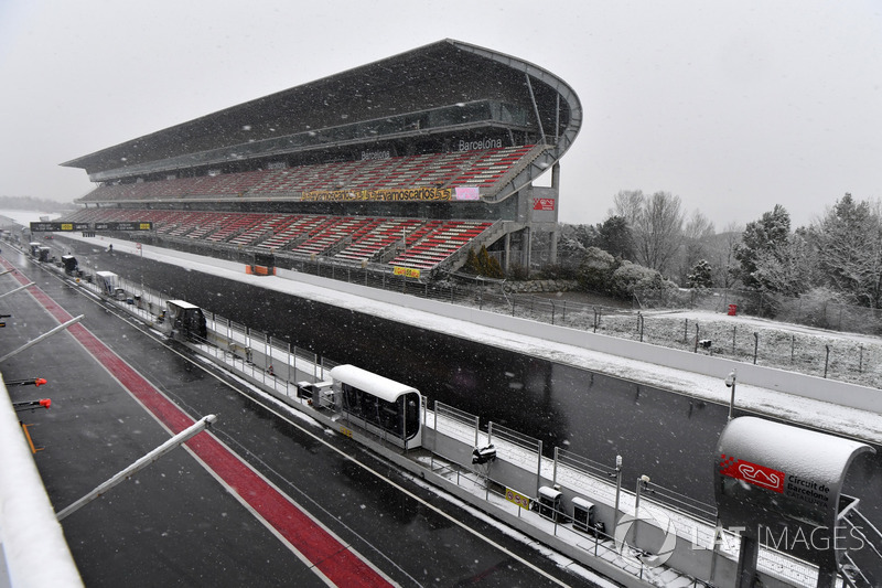 Main straight as snow stops testing