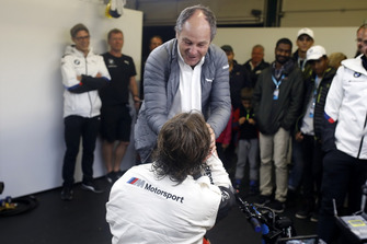 Alex Zanardi, BMW Team RMR with Gerhard Berger, ITR Chairman