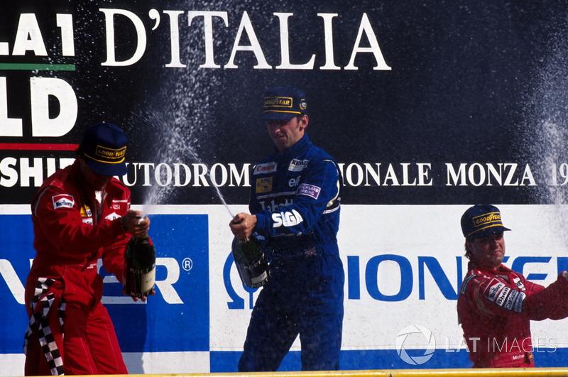 ...y ganó también siguiente carrera, la del GP de Italia 1993. Una racha de tres seguidas.