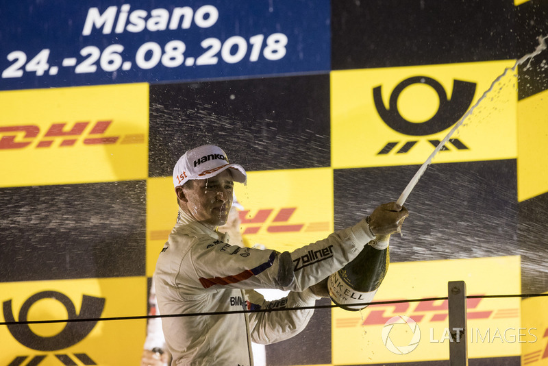 Podium: Race winner Joel Eriksson, BMW Team RBM