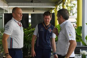 Rob Smedley, Williams Head of Vehicle Performance and Andrew Denford, F1 in Schools
