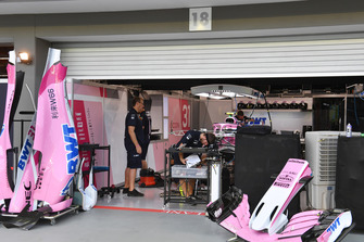 Racing Point Force India F1 Team garage