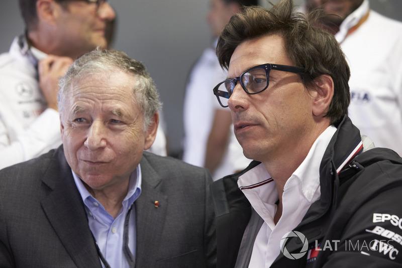 Rozmowa: Jean Todt, Prezes FIA, i Toto Wolff, Dyrektor Wykonawczy (Biznes), Mercedes AMG