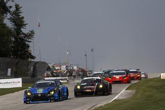 #14 3GT Racing Lexus RCF GT3, GTD - Dominik Baumann, Kyle Marcelli, #73 Park Place Motorsports Porsche 911 GT3 R, GTD - Patrick Lindsey, Jörg Bergmeister