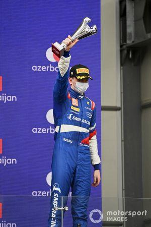 Robert Shwartzman, Prema Racing, 3rd position, on the podium
