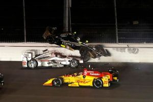 Ryan Hunter-Reay, Andretti Autosport Honda, Will Power, Team Penske Chevrolet, Ed Carpenter, Ed Carpenter Racing Chevrolet