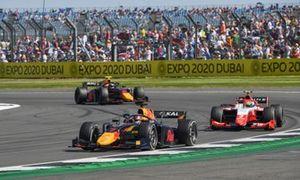 Liam Lawson, Hitech Grand Prix, Oscar Piastri, Prema Racing, and Juri Vips, Hitech Grand Prix