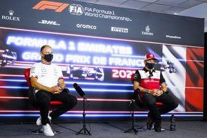 Valtteri Bottas, Mercedes and Kimi Raikkonen, Alfa Romeo Racing in the Press Conference