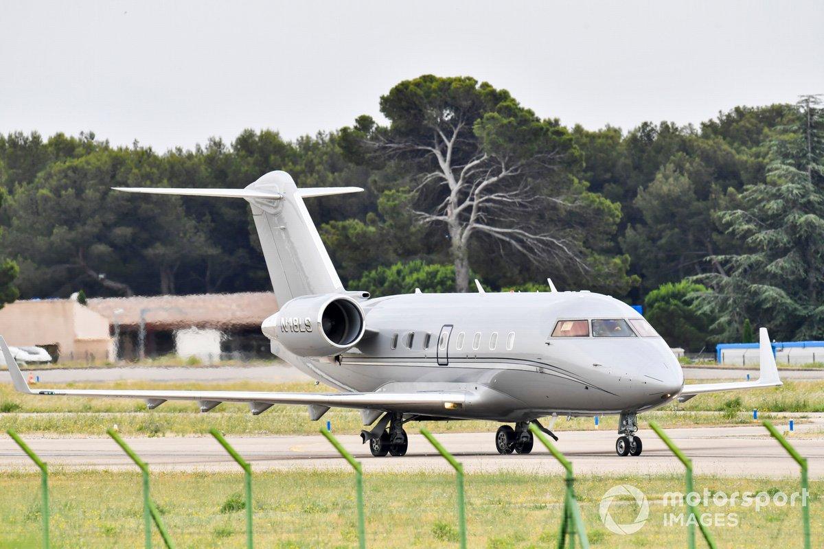 El avión privado Bombardier Challenger 600-2B16 de Lance Stroll, Aston Martin