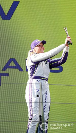 Emma Kimilainen, 3rd position, with her trophy