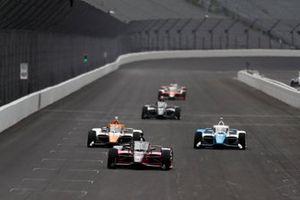 Helio Castroneves, Meyer Shank Racing Honda, Juan Pablo Montoya, Arrow McLaren SP Chevrolet, Alex Palou, Chip Ganassi Racing Honda