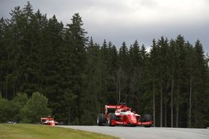 Dennis Hauger, Prema Racing, leads Arthur Leclerc, Prema Racing