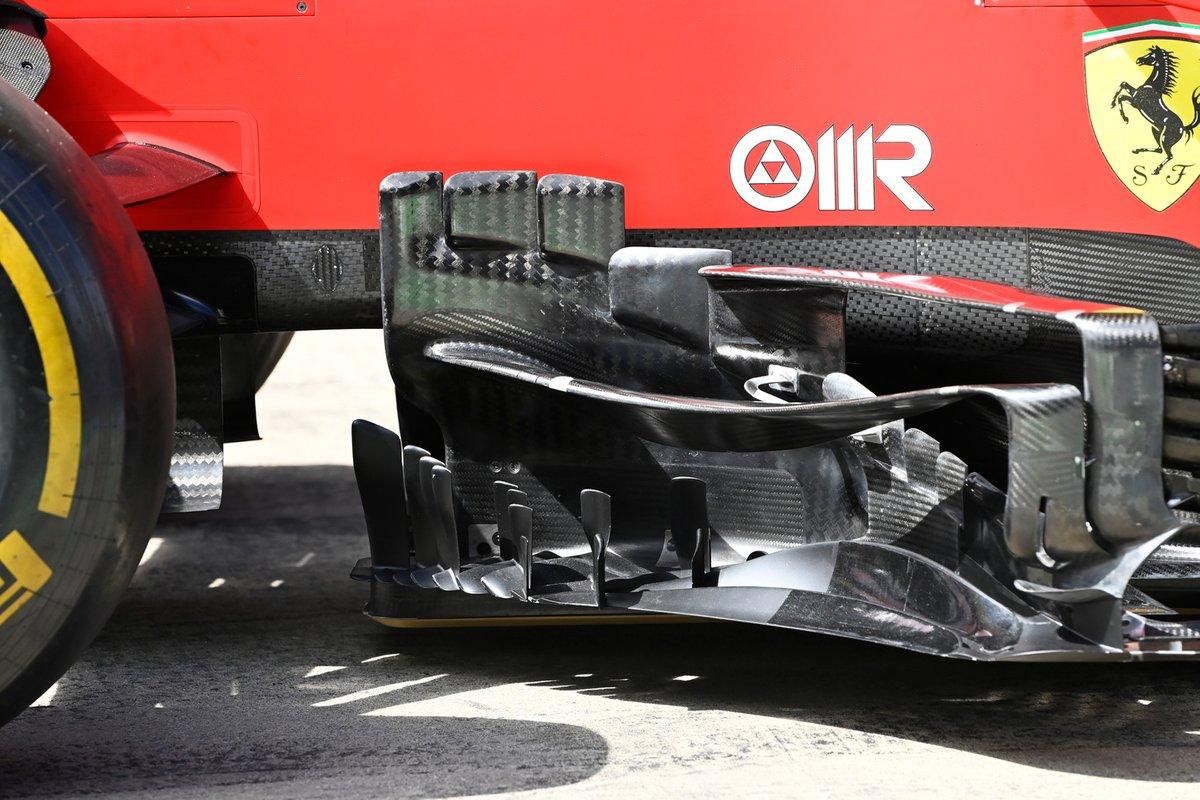 Detalle técnico del Ferrari SF21