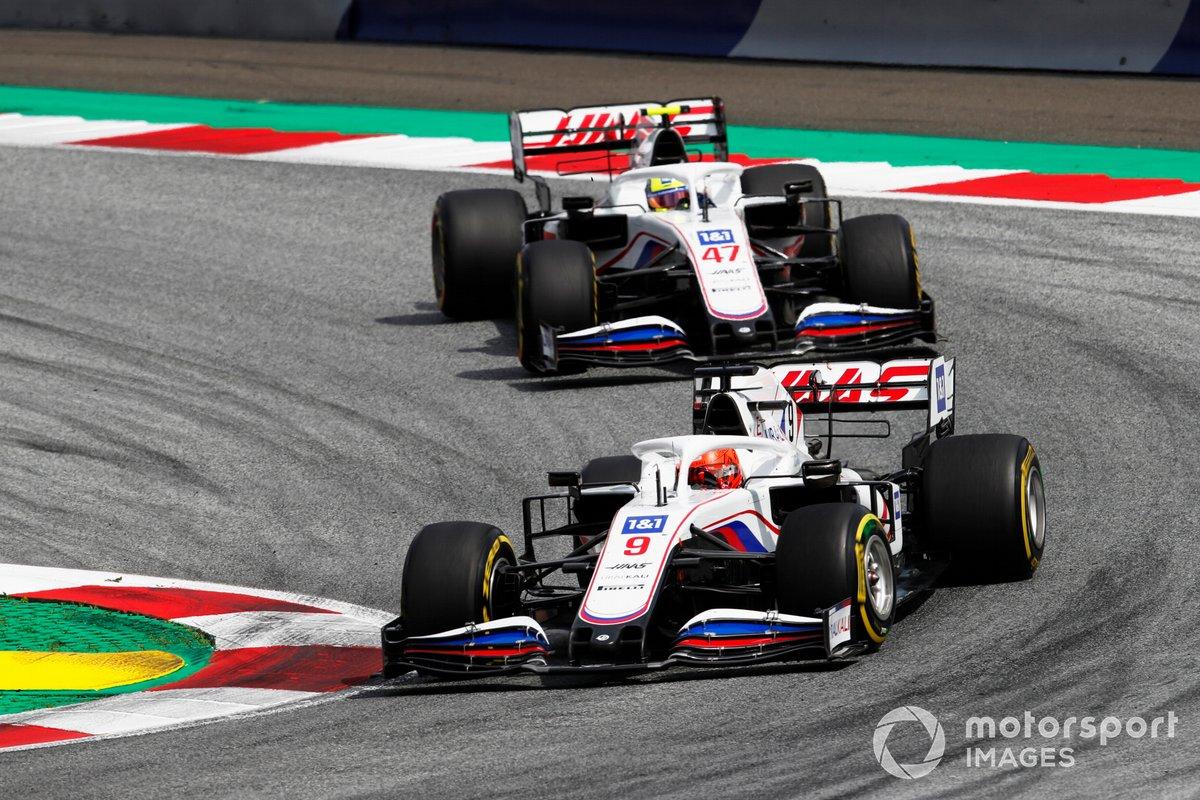 Nikita Mazepin, Haas VF-21, Mick Schumacher, Haas VF-21