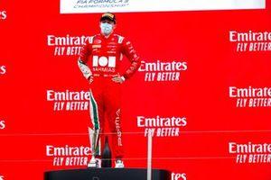 Arthur Leclerc, Prema Racing, 1st position, on the podium