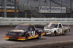Jake Griffin, Reaume Brothers Racing, Toyota Tundra Griffin Knoxville and Jack Wood, GMS Racing, Chevrolet Silverado Chevy Accessories