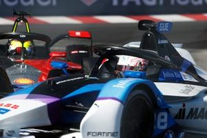 Maximilian Gunther, BMW i Andretti Motorsport, BMW iFE.21, battles with Oliver Rowland, Nissan e.dams, Nissan IMO2