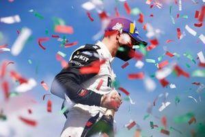 Edoardo Mortara, Venturi Racing, first position, on the podium