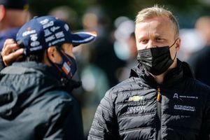 Felix Rosenqvist, Arrow McLaren SP Chevrolet and Takuma Sato, Rahal Letterman Lanigan Racing Honda