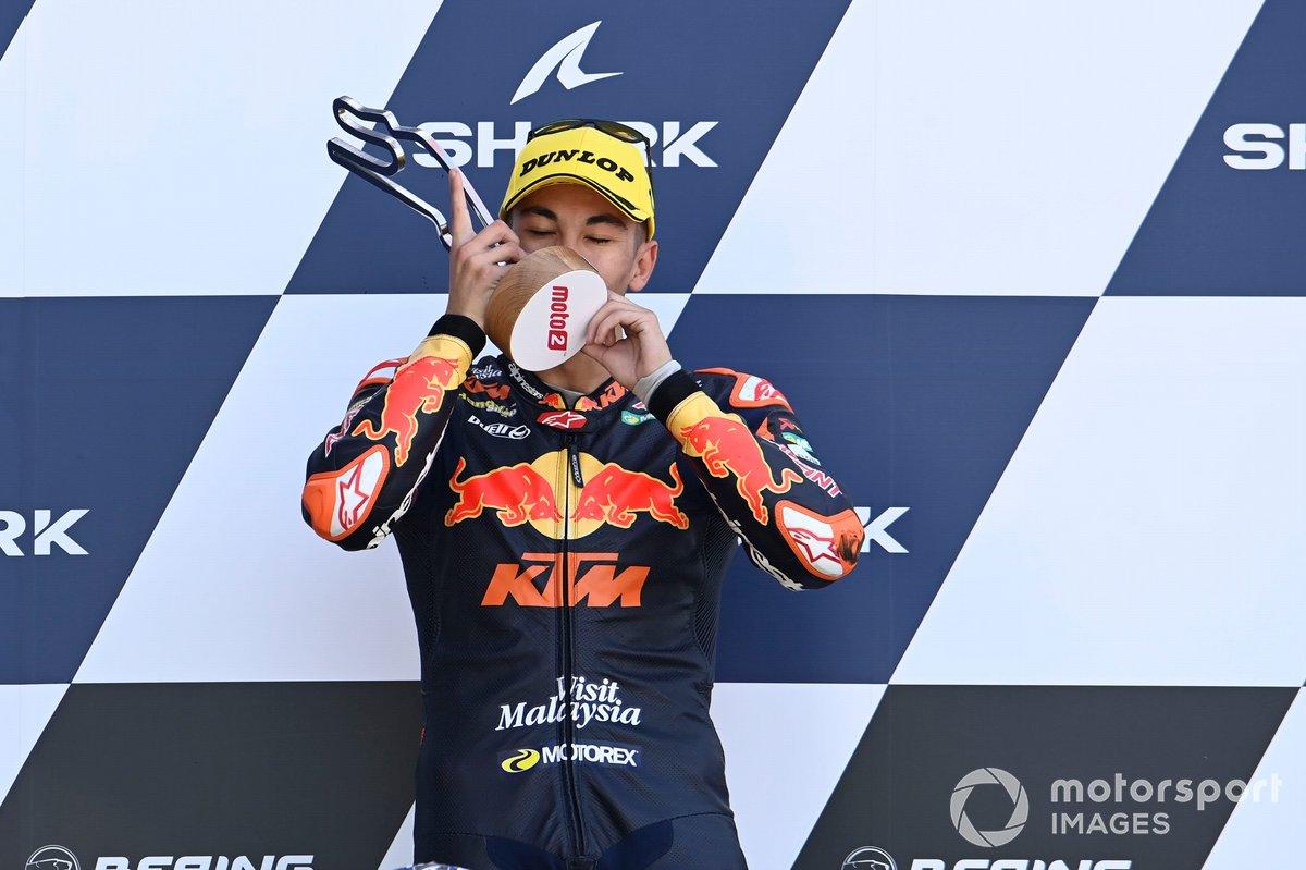 Podio: Raul Fernandez, Red Bull KTM Ajo