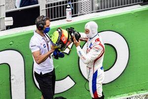 Mick Schumacher, Haas F1, sur la grille de départ