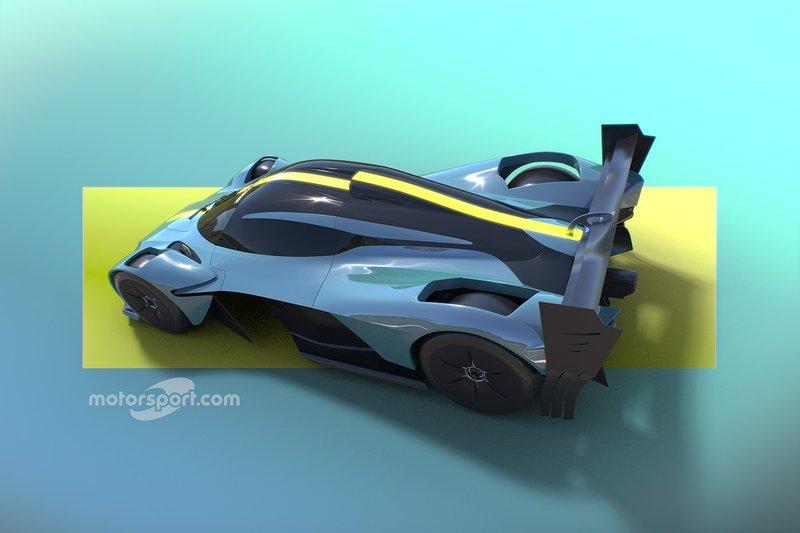 Rendu de l'Aston Martin Valkyrie par Motorsport Network