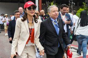 Michelle Yeoh met haar man Jean Todt, President, FIA