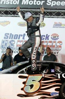 Race winner Mike Skinner