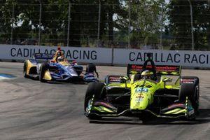 Sebastien Bourdais, Dale Coyne Racing with Vasser-Sullivan Honda, Alexander Rossi, Andretti Autosport Honda