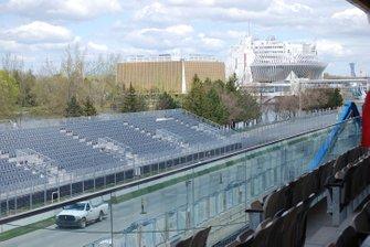 Vista general del edificio de boxes de Montreal